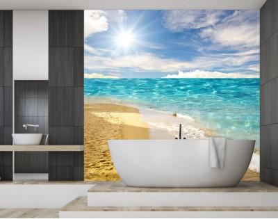 NADMORSKA PLAŻA - panel szklany do łazienki