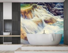 KAMIENISTY WODOSPAD - panel szklany do łazienki