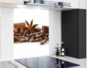 PRZYPRAWY DO KAWY - hartowany panel szklany - grafika