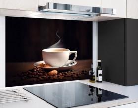 AROMATYCZNA KAWA - panel szklany - grafika