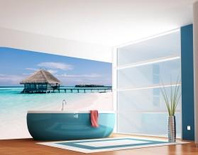 BUNGALOW NA MALEDIWACH - panel szklany do łazienki