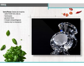 DIAMENTY - szklana deska do krojenia
