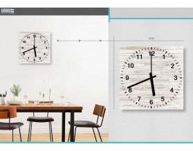 DESKA BIELONA - zegar szklany