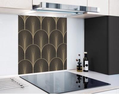 ZŁOTE ŁUKI - hartowany panel szklany
