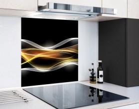 PŁOMIENNA FALA - hartowany panel szklany