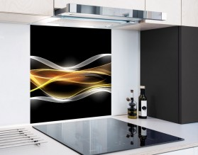 PŁOMIENNA FALA - panel szklany
