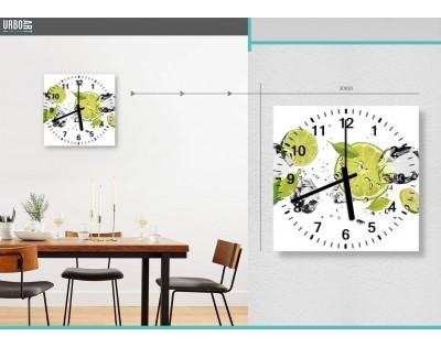 LIMONKI W WODZIE - zegar szklany