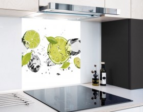 LIMONKI W WODZIE - panel szklany