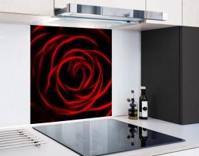 CZERWONA RÓŻA - hartowany panel szklany