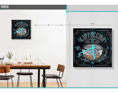 CAPPUCCINO - zegar szklany