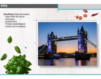 LONDON TOWER BRIDGE - szklana deska do krojenia