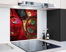 FRAKTALNE KULE - hartowany panel szklany