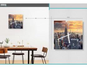 NEW YORK SKYLINE - zegar szklany
