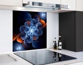 FRAKTALNY KWIAT - hartowany panel szklany
