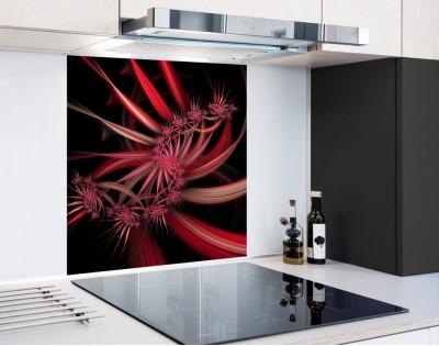 KWIATOWE FRAKTALE - hartowany panel szklany