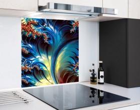 MAGICZNE PAPROCIE - hartowany panel szklany