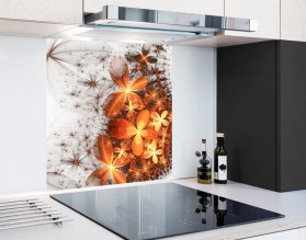 ZŁOTE MOTYLE - hartowany panel szklany