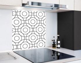 CIRCLES - hartowany panel szklany