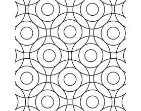 CIRCLES - hartowany panel szklany - grafika