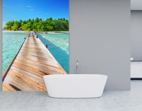 POMOST DO RAJU - panel szklany do łazienki