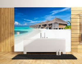 NADMORSKA OSADA - panel szklany do łazienki