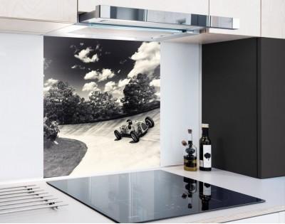 RETRO WYŚCIGÓWKA - panel szklany