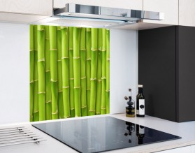 ZIELONY MUR - hartowany panel szklany