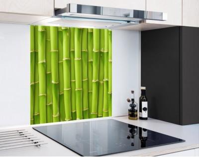 ZIELONY MUR - panel szklany