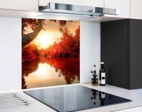 BARWY JESIENI - panel szklany