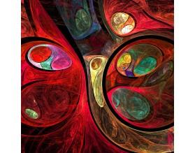 FRAKTALNE KULE - panel szklany - grafika
