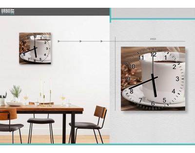 AROMAT KAWY - zegar szklany