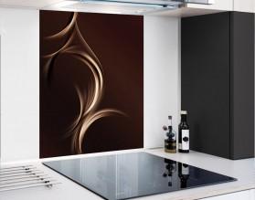 FALA CAPPUCCINO - hartowany panel szklany - grafika