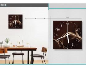 FALA CAPPUCCINO - zegar szklany