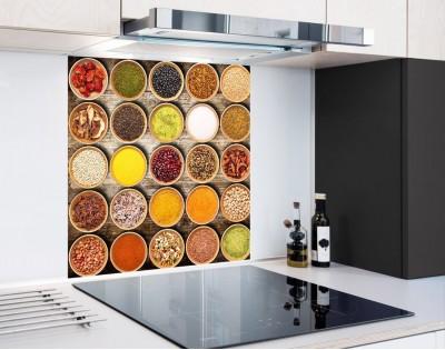 PRZYPRAWY KOLAŻ - panel szklany