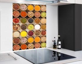 PRZYPRAWY KOLAŻ - panel szklany - grafika