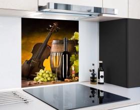 WINO I MUZYKA - hartowany panel szklany