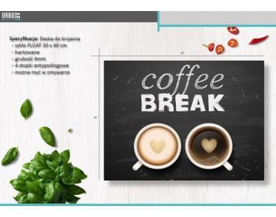 COFFEE BREAK - szklana deska do krojenia