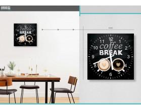 COFFEE BREAK - zegar szklany