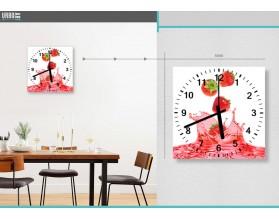 SŁODKIE TRUSKAWKI - zegar szklany