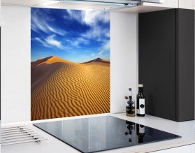 PUSTYNIA - panel szklany - grafika