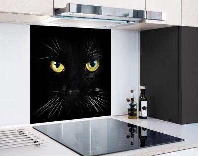 BLACK CAT - panel szklany