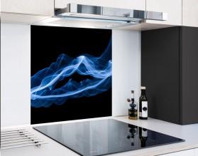 BLUE SMOKE - hartowany panel szklany