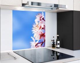 KWIAT WIŚNI - hartowany panel szklany