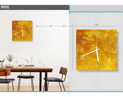 ZŁOTO - zegar szklany