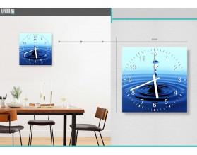 BLUE DROP - zegar szklany