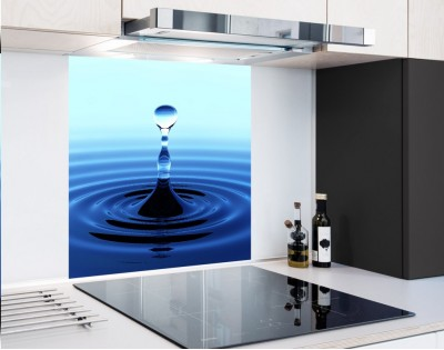 BLUE DROP - panel szklany
