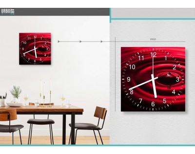RED DROP - zegar szklany