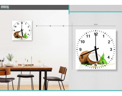 KOKOS - zegar szklany