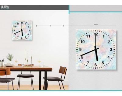 PASTELOWA ABSTRAKCJA - zegar szklany