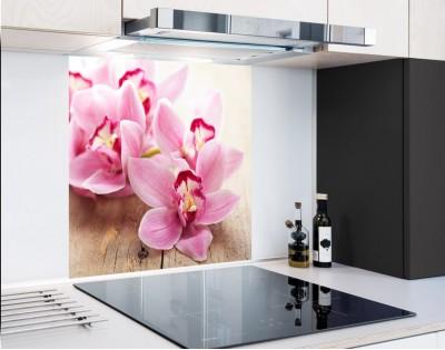 ORCHIDEE W RÓŻU - hartowany panel szklany